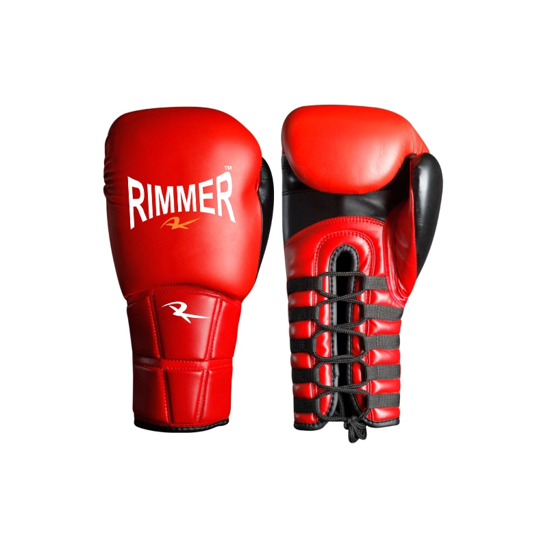 Rimmer Pro Lace Up Boxing Gloves